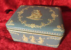 Vintage Made in Holland Embossed Tin Box With Old Buttons and Bobbins