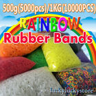 RAINBOW COLOR RUBBER BANDS FOR LOOM KITS BRACELET-12 COLORS CRAFT MAKING HOTSALE