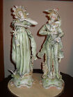 ANTIQUE FRENCH PORCELAIN STATUES  1800'S  6394  ENGAGEMENT RING MAN AND WOMAN