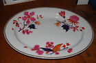 ANTIQUE FLIGHT BARR AND BARR MARKED ON BACK FBB RARE OVAL PLATTER OR CHARGER