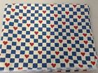 Vintage Country Print Fabric Joan Kessler For Concord Fabrics #632 Hearts Square