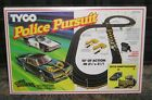 TYCO HO SLOT CAR RACE TRACK SET POLICE PURSUIT w/ 2 TYCO SLOT CARS 1983