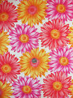 BRIGHT LARGE PRINT THREE COLOR DAISY FABRIC ONE YARD  FABRIC TRADITIONS