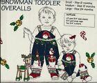 Daisy Kingdom Christmas Panel - Snowman Toddler Overalls for 6,12,24 mos