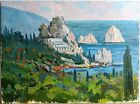 PLEIN AIR RUSSIAN UKRAINIAN ORIGINAL IMPRESSIONIST OIL PAINTING CRIMEA