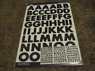 Scrapbooking Stickers Sticko Numbers Alphabet Large 3 Sheets New Black