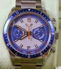 Tudor Heritage Chronograph 70330B Blue Silver Stainless Steel Date