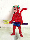 Mexican folk art tin Day Of Dead Diablo Devil Pitchfork Christmas Tree ornament