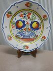 HB Henriot Quimper France F6 D6 MR Plate with Basket and Flowers