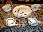 Vintage Handpainted Japan Japanese 10PC Tea Cups & Plates Creamer Sugar