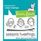 Lawn Fawn Clear Stamps Winter Sparrows LF565