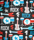 100% Cotton Flannel, Rock Band - Apparel, General Sewing, Quilting, BTY, New