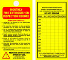 (12) FIRE EXTINGUISHER - 6 Year MONTHLY INSPECTION TAGS - OSHA - NFPA - SAFETY