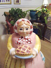 Vintage Adorable Mom Grandma Kids Kitchen Home Pie Lady Cookie Treats Jar