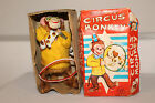 1950's Made in Japan Windup Circus Monkey with Dog and Hoop,  Original, Works