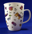 Dunoon Fine Bone China Cup or Mug Designed by Maggie Hartland -  Cat Motif