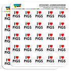 I Love Heart Pigs 1 Scrapbooking Crafting Stickers