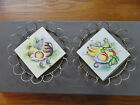 UCAGCO  JAPAN HAND PAINTED FRUIT TILE ART WALL HANGINGS