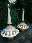 Mid Century Modern Lamps Chalkware & Wood 1 lamp for 70.00, pair for 120.00