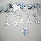 HOT  DIY13mm 100pcs shiny flowers loose sequins Paillettes sewing Wedding YW09
