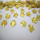 HOT  DIY13mm 100pcs shiny flowers loose sequins Paillettes sewing Wedding UYTF06