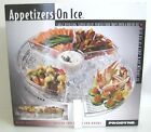 Prodyne Large Clear Plastic Revolving Food Serving & Ice Tray BPA Free