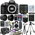 Nikon D3300 Digital SLR Camera Black + 3 Lens 18 55mm Lens + 16GB Bundle