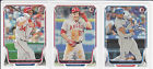 Mike TROUT Yasiel PUIG Bryce HARPER 2014 Bowman Baseball HOTTEST YOUNG STARS LOT