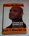 I May Be Wrong but I Doubt signed by Charles Barkley 2002 Hardcover autod
