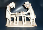Bencini Ceramic Figures of Men Playing Cards Very Well Made