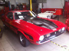 1971 Ford Mustang Grandee Coupe V8 red in Mach 1 styling