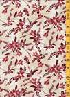 Quilting Sewing Cotton Fabric Kona Bay Gentle Breeze Red Floral PLUS on Beige 04