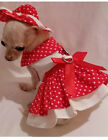 Little Lady 4 piece harness dress set dog dress dog clothes chihuahua xssml
