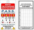 (12) FIRE EXTINGUISHER MONTHLY INSPECTION TAGS (6 YEARS) OSHA - NFPA - SAFETY