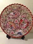 Vintage Japanese handpainted Imari scalloped luncheon plate 8 1/2