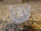 Lausitzer German 24% Lead Crystal Etched Glass Scalloped Edge Candy Dish Bowl