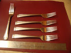 5 Lenox Landmark Platinum stainless frosted dinner forks