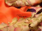 ROBERTO CAVALLI MADE IN ITALY PURE SILK PANEL FOR SCARF OR SHIRT CM 140 X 140
