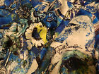 ROBERTO CAVALLI MADE IN ITALY PURE SILK PANEL FOR SCARF OR SHIRT CM 200 X140