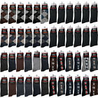 12 Pairs Mens Multi Color Pattern Cotton Fashion Casual Dress Socks Size 10 13