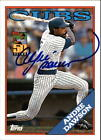 2001 Cubs Topps 50th Anniversary Autographs #2 Andre Dawson 88 AUTO