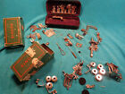 Mixed Vtg Lot SINGER & Greist & ? Sewing Machine Attachment  AS-IS  Box - Case +