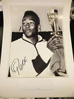 PELE HAND SIGNED LARGE A2 PHOTO PRINT BRAZIL WORLD CUP 1962 PRIVATE SIGNING COA
