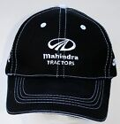 Mahindra New OEM ball cap hat black white stitched tractor farm yard