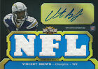 2011 TRIPLE THREADS #103 VINCENT BROWN AUTOGRAPH ROOKIE RC JERSEY CHARGERS 10 99