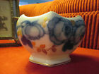 ROSENTHAL BOWL VASE SELB-BAVARIA PORCELAIN ROSE FLOWER BLUE GOLD WHITE 1927