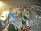 Large Hand Painted Poor Boy & Dog+Girl & Puppy 17'' Vintage Rare Holland Mold