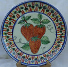 ANTIQUE STRAWBERRY HANDMADE, HAND PAINTED CERAMIC PLATE 9.75