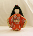 Authentic Japanese KIMEKOMI Doll in Kimono w/Pretty Porcelain Hand Painted Face