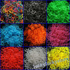 1000pcs(10x100) Rainbow Refill Rubber Bands,40 Free Clips for DIY Loom Bands Kid